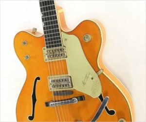 Sold!  Gretsch 6120 Double Cutaway Thinline Electric, Orange 1962
