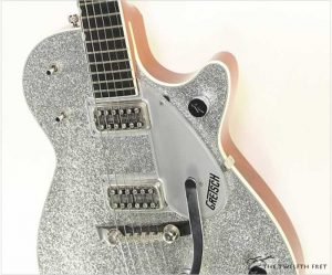 Gretsch Sparkle Jet G6129T with Bigsby Silver Sparkle, 2007 - The Twelfth Fret