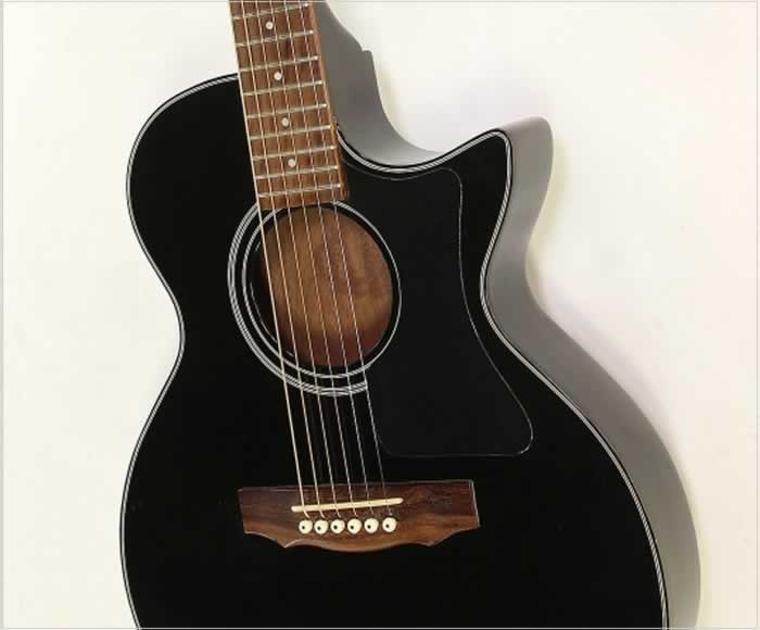 guild songbird thin body acoustic electric black 1990. Black Bedroom Furniture Sets. Home Design Ideas