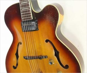 ❌SOLD❌Guild X150 Savoy Cutaway Single Pickup Archtop Electric Sunburst, 1961