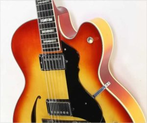 ❌SOLD❌ Hagstrom Jimmy Archtop Electric Guitar Sunburst, 1977