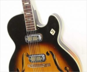 Harmony Meteor H70 Thinline Archtop Electric Sunburst, 1958