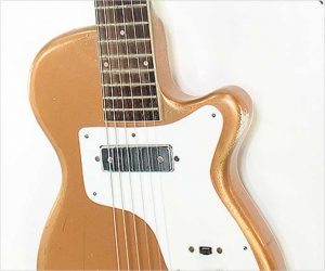 ❌ SOLD ❌  Harmony Stratotone H44 Gold Solidbody Electric Guitar,1955