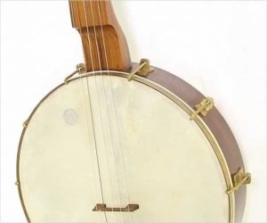 ❌SOLD❌ Hartel Levi Brown Fretless Long Scale Banjo Walnut, 2008