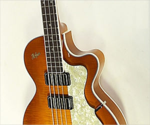 Hofner Club Bass Cavern Spacing, Amber Burst 2018