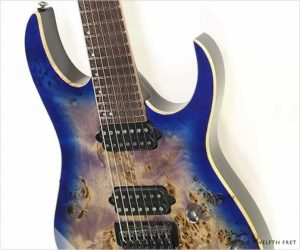 ❗️SALE❗️ Ibanez RG1027PBF Premium 7 String Cerulean Blue Burst - New /Old Stock