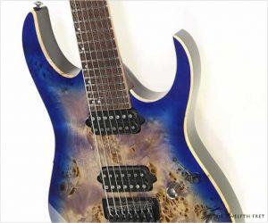 ❗️SALE❗️ Ibanez RG1027PBF Premium 7 String Cerulean Blue Burst - New /Old Stock