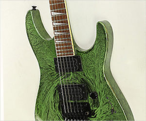 SOLD!!! Jackson SL3MG Neck-Through Electric Green Swirl, 2011