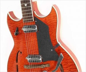 ❌SOLD❌  Kay Old Kraftsman Red Devil K592 Thinline Electric Red, 1962