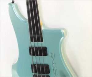 ❌ SOLD❌  Kubicki Factor Fretless Bass Metallic Teal, 1990