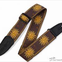 Levy's MPJG '60s Sun Design Jacquard Weave Guitar Strap - The Twelfth Fret