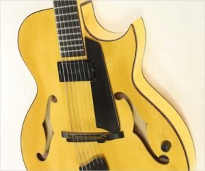 ❌SOLD❌ Lucca LS1C 'Gary Benson' Archtop Electric Guitar Natural, 2002
