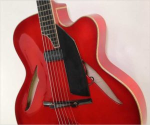 ❌ SOLD ❌ Michael A Lewis 'Le Petite Rougette' Archtop Guitar Red, 2009