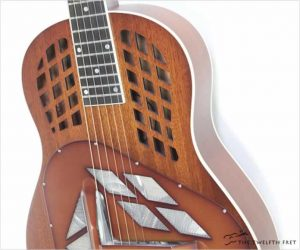 National M1 Tricone Wood Body Resophonic Guitar