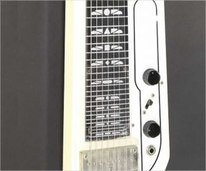 ❌SOLD❌National Model 1008 Console 8 String Steel White, 1961