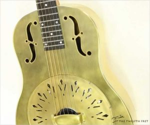 National NRP Raw Brass Resophonic Guitar