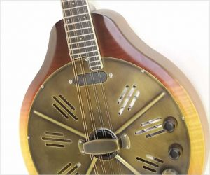 National RM1-E Walnut Body Resophonic Mandolin