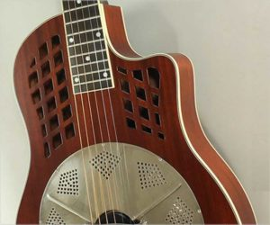 National Reso-Phonic Reso Rocket Wood Body Single Cone Guitar