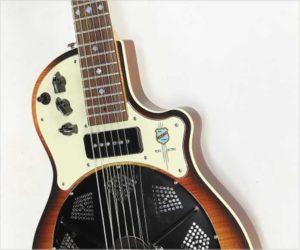 National Resolectric Solidbody Resophonic Guitar Sunburst