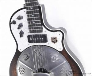 National Resophonic Revolver Resolectric Guitar