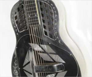 National Style 2-5 Tricone Squareneck Resophonic Guitar, Nickel, 1929