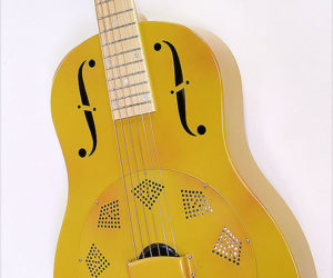 "❌SOLD❌ National Triolian Polychrome ""Palm Yellow'"" Resophonic Guitar, 2010"