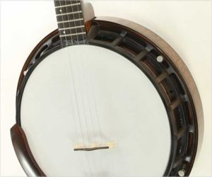 ❌SOLD❌  Nechville Midnight Dot Phantom Banjo, Walnut Stain