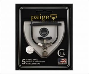 Paige Clik 5 String Banjo Capo - Fits Mandolin And Ukulele