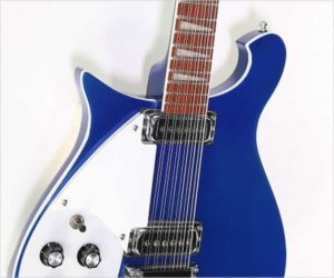 ❌ SOLD ❌ Rickenbacker 620/12 Left Handed Solid Body Electric Metallic Blue, 2005