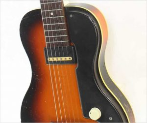 ❌SOLD❌  Royal Aire by National Solidbody Electric Guitar Sunburst, 1951