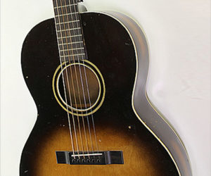 SOLD!!! SS Stewart Sunburst Steel String Acoustic Guitar, 1930s