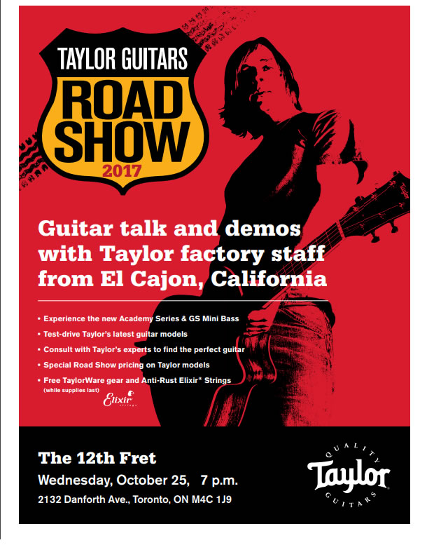 Taylor Guitars Road Show Event - the Twelfth Fret