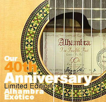 The Twelfth Fret 40th Anniversary Alhambra Exótico Limited Edition