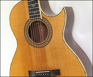 SOLD!  William Laskin Small Body Steel String Guitar (1989)