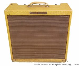 ❌SOLD❌   Fender Bassman 4x10 Amplifier Tweed, 1957