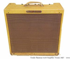 ❌SOLD❌   Fender Bassman 4x10 Amplifier Tweed, 1957