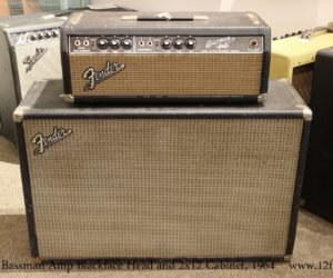 ❌SOLD❌  Fender Bassman Amp Blackface Head and 2x12 Cabinet, 1964