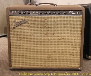 Sold!  Fender Pro Combo Amp 1x15 Brownface, 1963