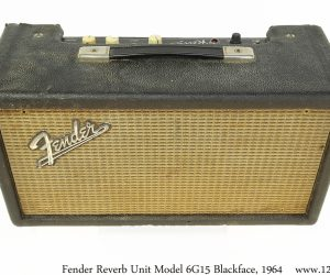 ❌SOLD❌ Fender Reverb Unit Model 6G15 Blackface, 1964