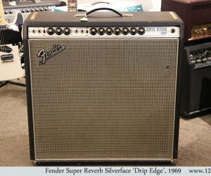 ❌SOLD❌Fender Super Reverb Silverface 'Drip Edge', 1969