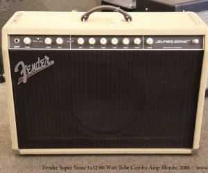 Fender Super Sonic 1x12 60 Watt Tube Combo Amp Blonde, 2006