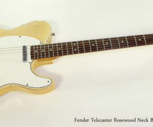 SOLD!!! 1966 Fender Telecaster Rosewood Neck Blonde