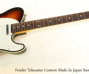 ❌SOLD❌ Fender Telecaster Custom Made In Japan Sunburst, 1985