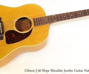 Gibson J50 Slope Shoulder Jumbo Guitar Natural, 1953