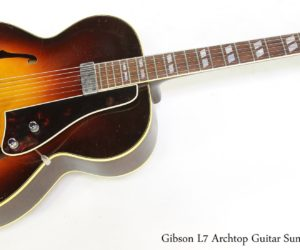 Gibson L7 Archtop Guitar Sunburst, 1941