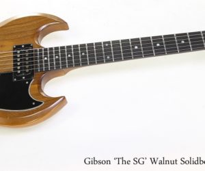 "Gibson ""The SG"" Walnut Solidbody Electric, 1979"