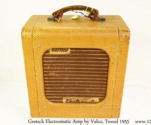 ❌SOLD❌  Gretsch Electromatic Amp by Valco, Tweed 1955