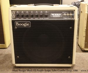 Sold!  Mesa Boogie Mark III Purple Stripe Tube Combo Amp, 1986