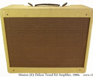 ❌SOLD❌ Mission 5E3 Deluxe Tweed Kit Amplifier, 1990s