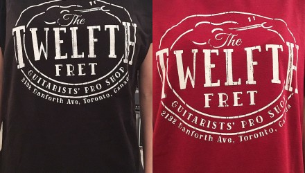 The-New-Twelfth-Fret-Logo-T-Shirt-Black-and-Red